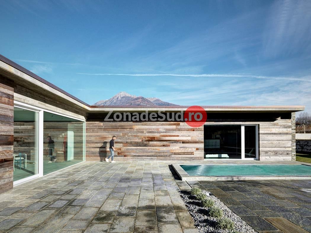 Casa moderna din piatra zona de sud for Casa moderna romania